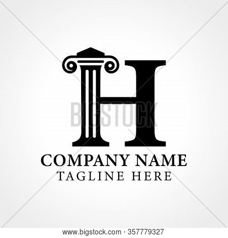 Attorney & Law Initial Letter H Logo With Creative Modern Typography Vector Template. Abstract Lette