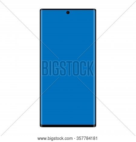 Realistic Smartphone Mockup. Cellphone Frame With Blank Display Isolated On White Background. Vector