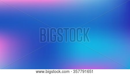 Blue Purple Pink Digital Gradient Background. Elegant Colorful Vibrant Unfocused Horizontal Banner.