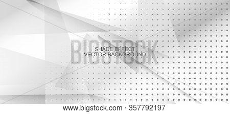 Halftone Dynamic Gray Vector Background. Gray White Shade Page. Halftone Wallpaper. Minimal Faded Ba