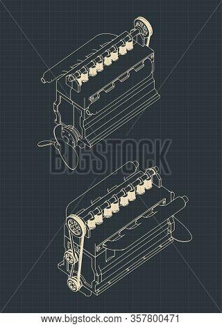 Diesel Engine Drawings