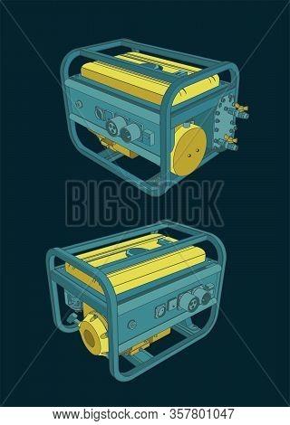 Portable Generator Illustrations