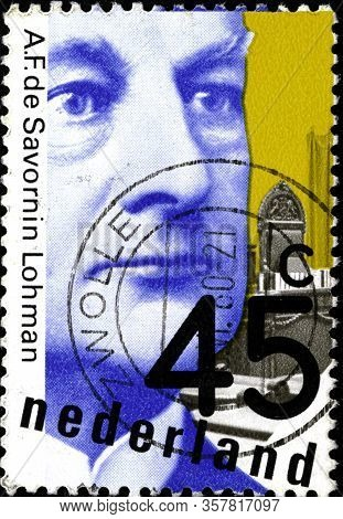 02 11 2020 Divnoy Stavropol Territory Russia The Postage Stamp Netherlands 1980 Politicians Jhr. A.f