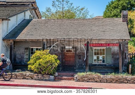 Monterey, Ca / Usa - July 18 2015: Californias First Theatre. Located In Monterey State Historic Par