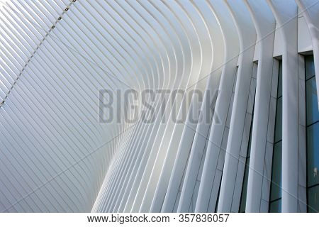 Abstract lines on architecture modern