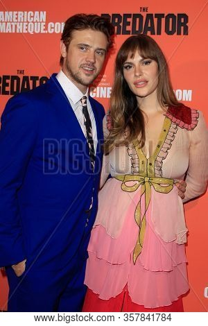 LOS ANGELES - SEP 12:  Boyd Holbrook, Tatiana Pajkovic at the