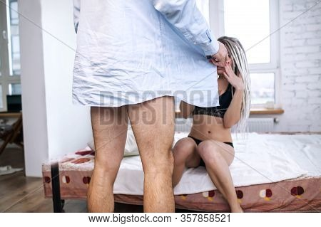 Male With Sex Problem And Impotence Concept