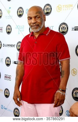 LOS ANGELES - AUG 2:  Mike Tyson at the Mike Tyson Celebrity Golf Tournament at the Monarch Beach Resort on August 2, 2019 in Dana Point, CA