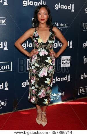 LOS ANGELES - APR 1:  Shelby Rabara at the 28th Annual GLAAD Media Awards at Beverly Hilton Hotel on April 1, 2017 in Beverly Hills, CA