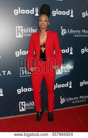 LOS ANGELES - APR 1:  Nneka Onuorah at the 28th Annual GLAAD Media Awards at Beverly Hilton Hotel on April 1, 2017 in Beverly Hills, CA