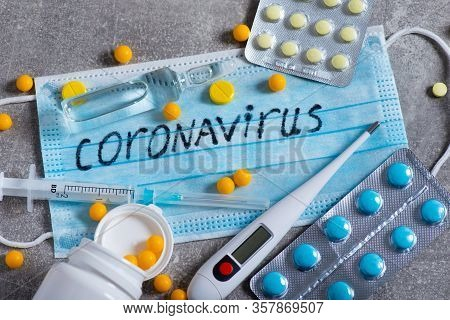Covid-19 Coronavirus And The Flu Epidemic. Speculation And Business On The Vaccine And Pills. Money