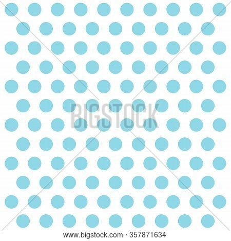 Easter Pattern Polka Dots. Template Background In White And Blue Polka Dots . Seamless Fabric Textur