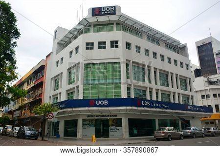 Kota Kinabalu, My - June 21: Uob (united Overseas Bank) Facade On June 21, 2016 In Kota Kinabalu, Ma