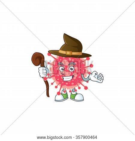 Sweet And Tricky Witch Coronavirus Emergency Cartoon Character