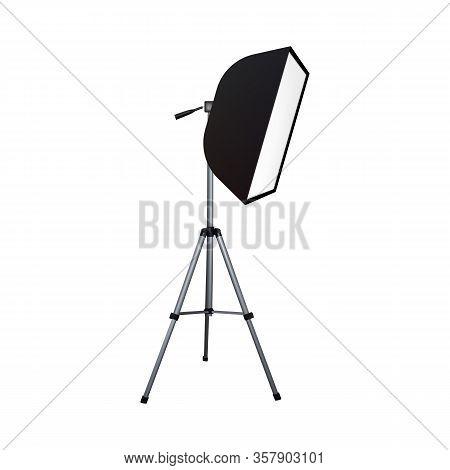 Soft Box. Photo Equipment. Vector Illustration Spotlight Softbox