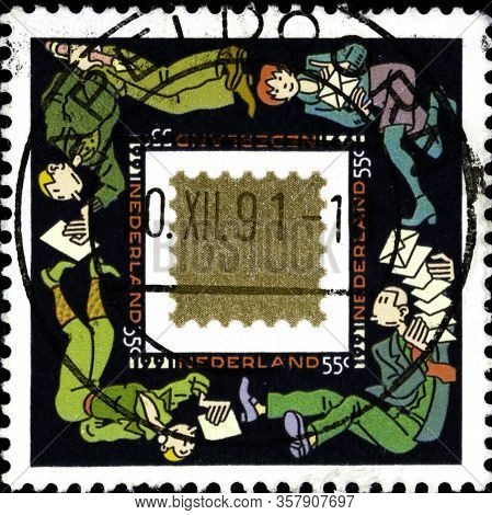 02 11 2020 Divnoe Stavropol Territory Russia Postage Stamp Netherlands 1991 December Stamps Forces A