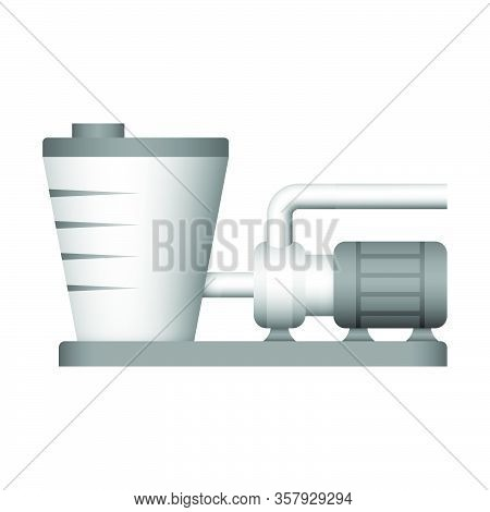 Water Pump And Water Tank Icon Design.