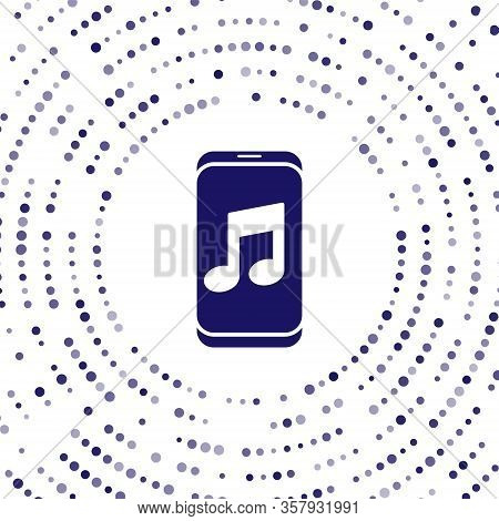 Blue Music Player Icon Isolated On White Background. Portable Music Device. Abstract Circle Random D