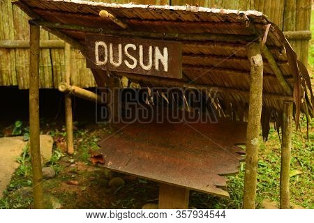 Sabah, My - June 21: Mari Mari Cultural Village Dusun Tribe Marker On June 21, 2016 In Sabah, Malays