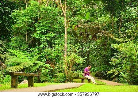 Sabah, My - June 21: Mari Mari Cultural Village Path Way On June 21, 2016 In Sabah, Malaysia. Mari M