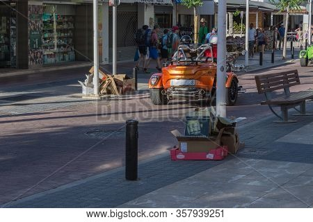 Paguera, Mallorca, Spain - May 31, 2016: Paguera, Mallorca, Spain - May 31, 2016:    A Couple Is Dri