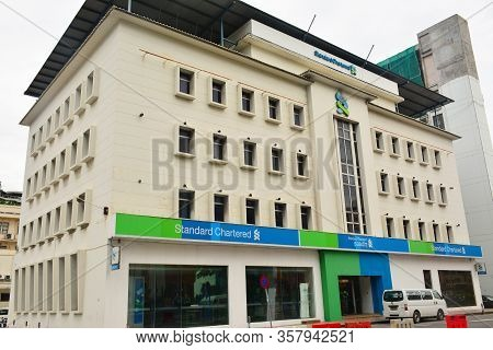 Kota Kinabalu, My - June 21: Standard Chartered Bank Facade On June 21, 2016 In Kota Kinabalu, Malay