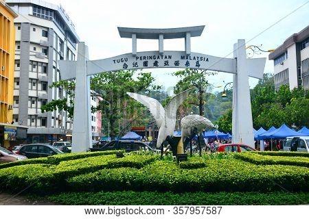 Kota Kinabalu, My - June 21: The Great Egret Monument Arch At Tugu Peringatan Malaysia On June 21, 2