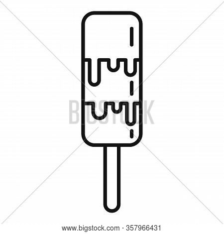 Gelato Popsicle Icon. Outline Gelato Popsicle Vector Icon For Web Design Isolated On White Backgroun