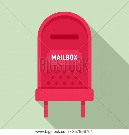 Letterbox Icon. Flat Illustration Of Letterbox Vector Icon For Web Design