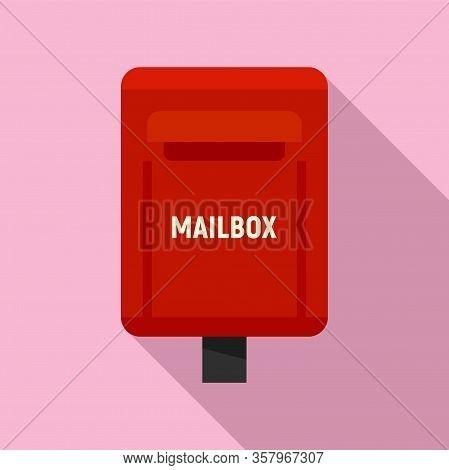 Correspondence Mailbox Icon. Flat Illustration Of Correspondence Mailbox Vector Icon For Web Design