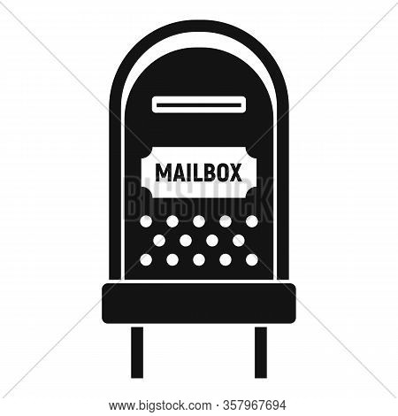 Letterbox Icon. Simple Illustration Of Letterbox Vector Icon For Web Design Isolated On White Backgr