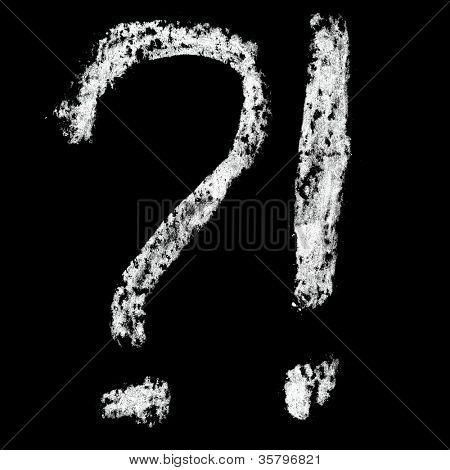 Nine - Chalk numbers over black background