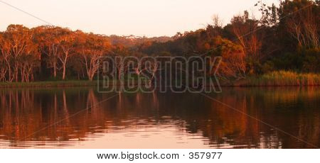 Lagoon At Sunrise