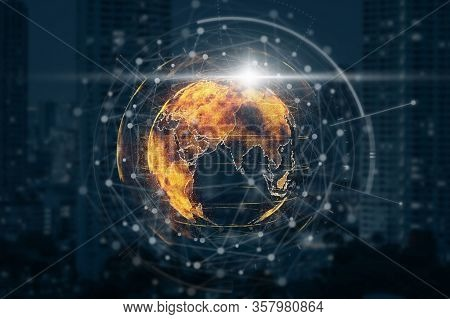 Concept Of Business Technology And International Business. Entrepreneur And Entrepreneurship, Comput