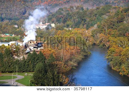 Beautiful Sutton city in West Virginia