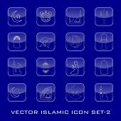 Vector Islamic icon set. EPS 10. poster