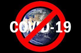 Coronavirus. Covid-19. Coronavirus Pandemic. Coronavirus2019. Earth with International NO Symbol and text saying NO COVID-19. Elements of this image furnished by NASA. Chinese CORONAVIRUS-19.
