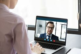 Female Employee Have Video Call With Business Partner