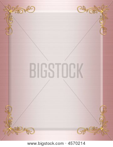 Pink Satin Formal Invitation Border