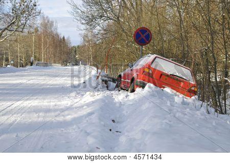 Car In The Ditch