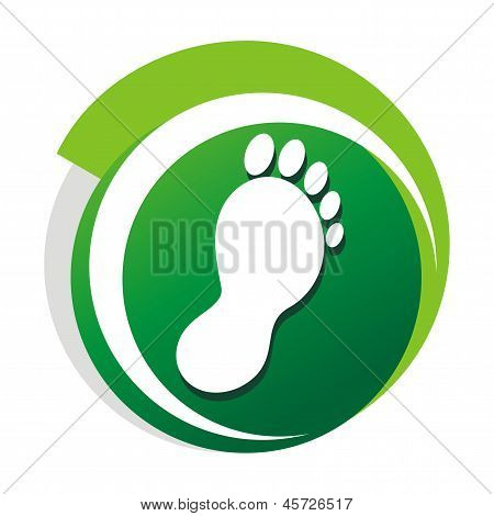 Podiatrist green vector logo