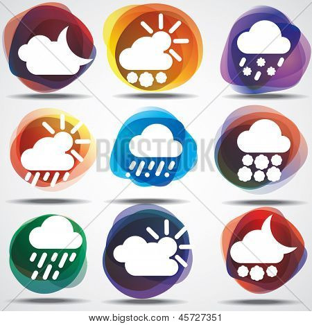 Weather Icons Set. eps10. Image contain transparency and various blending modes