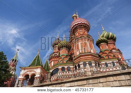 Cathedral of Vasily the Blessed on Red Square Moscow Russia poster