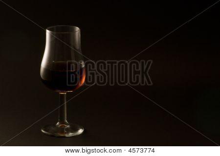 Whisky Tasting Glass On Black
