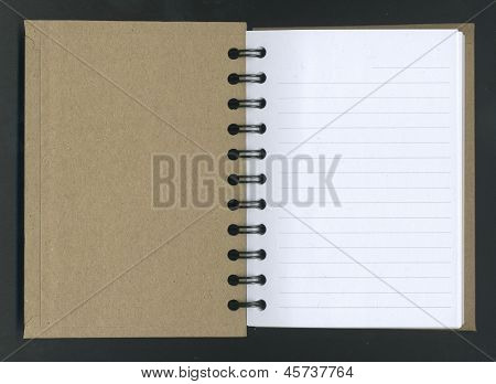 Opened Spiral Notebook.