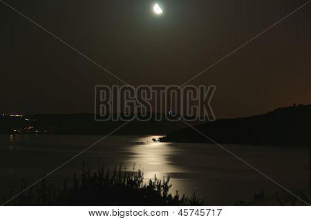 Moonshine In The Bay, Sardinia, Italy