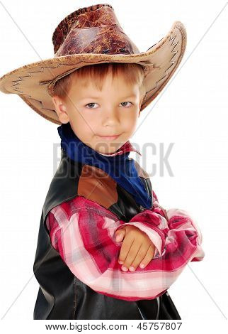 Boy dressed as a cowboy