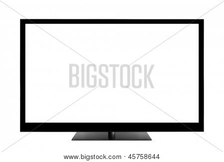 Blank TV screen with clipping path
