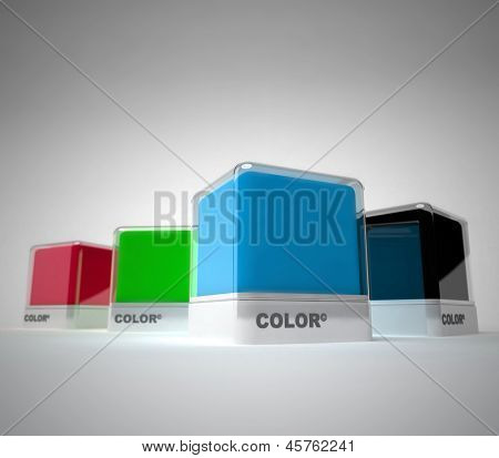 Design color blocks in a variety of colors