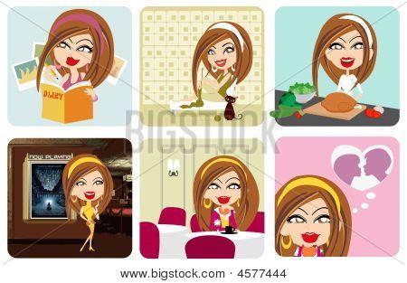 Vector Girl Activity